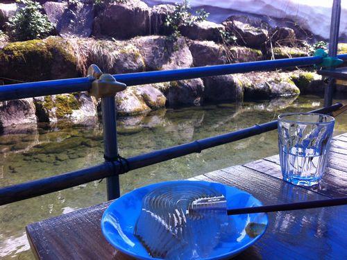 日本一うまいトコロテン。一本箸で食べます